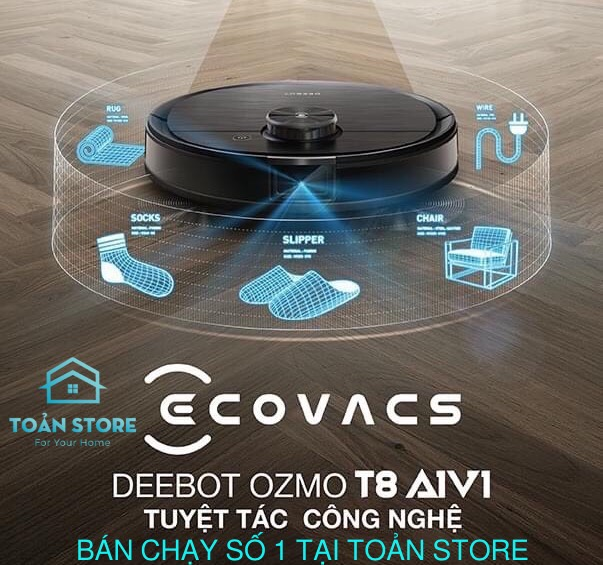 Robot Hút Bụi Deebot Ozmo T8 AIVI Toản Store